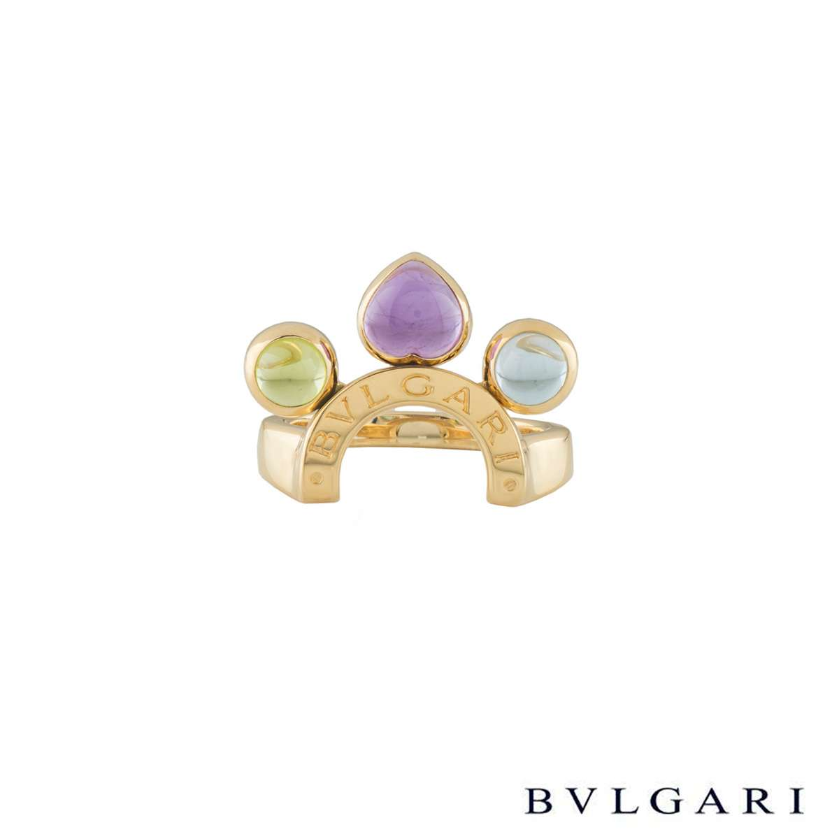 Bvlgari Yellow Gold Multi-Gemstone Allegra Ring